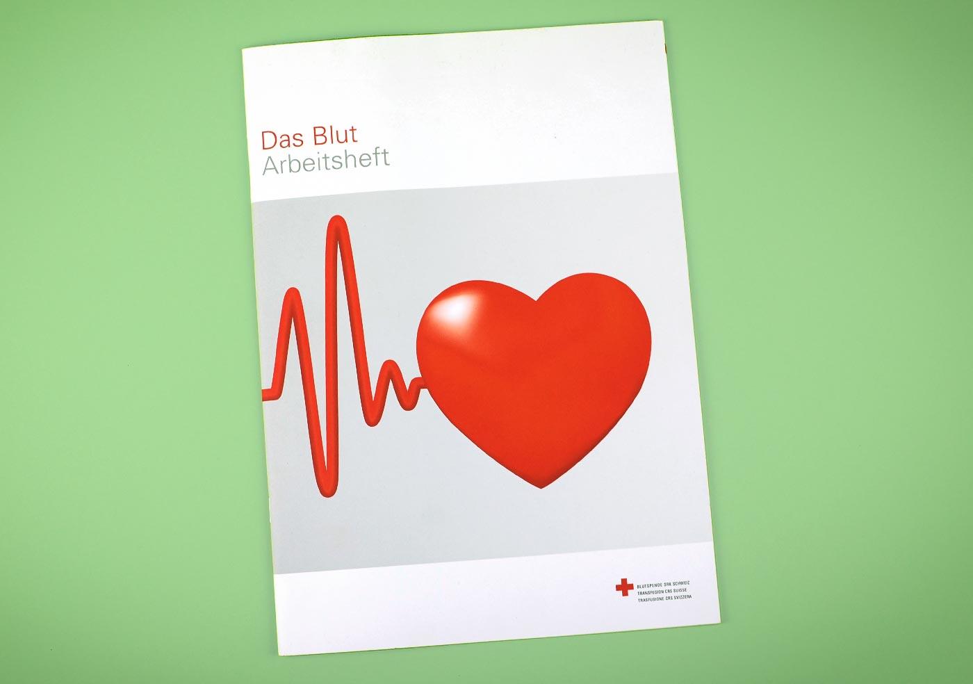 Broschüre für die Blutspende Schweiz