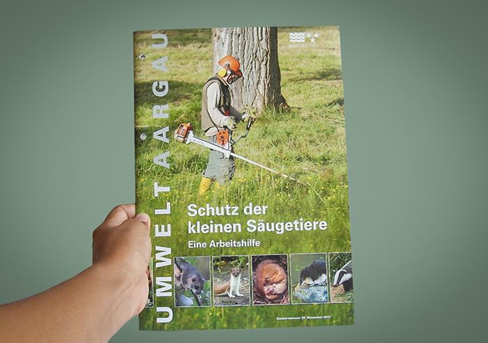 Schutz der kleinen Säugetiere für Umwelt Aargau