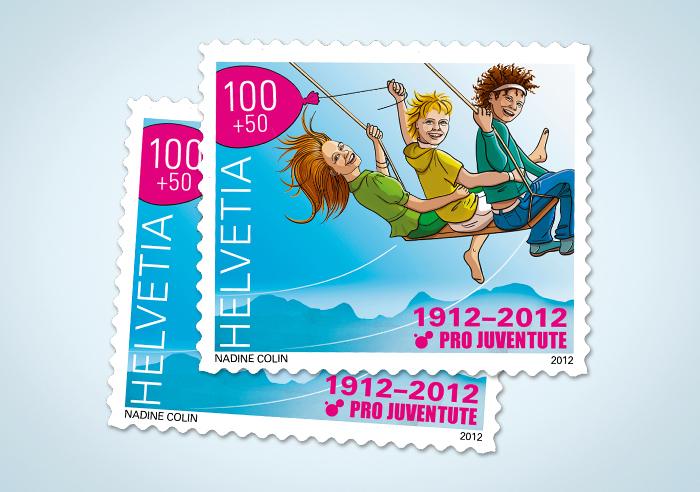 Briefmarken für die Schweizerische Post